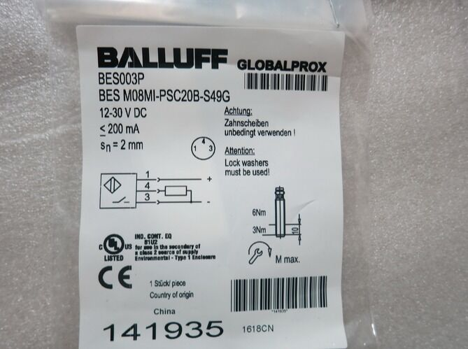 BES M08MI-PSC20B-S49G 1PC NEW BALLUFF Proximity switch free shipping plcBeste