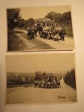 Jungen des VDA Verein für das Deutschtum im Ausland mit Auto bei Panne / 2x Foto