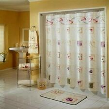 Excell Fabric Shower Curtain 70 x 72 Leaf Block Floral Flower Home Fashions