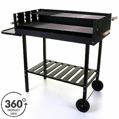 Large Charcoal BBQ Barbecue Trolley BBQ Wheels Outdoor Patio Garden Marko BBQ
