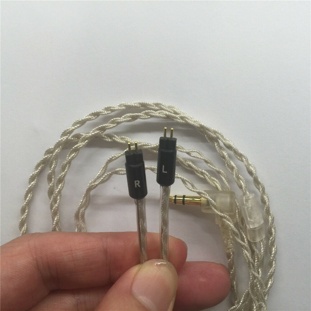 4 core 4N pure silk silver update cable for shure UE Western IE earphones