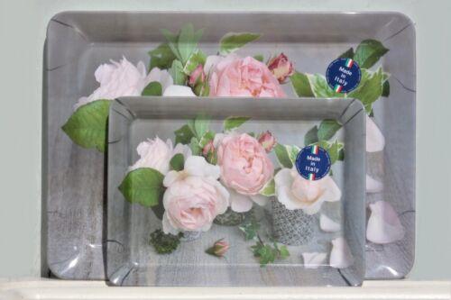 Bandeja composition del Roses romance 2 tamaños melamina Shabby 21,5x16+31x23 cm
