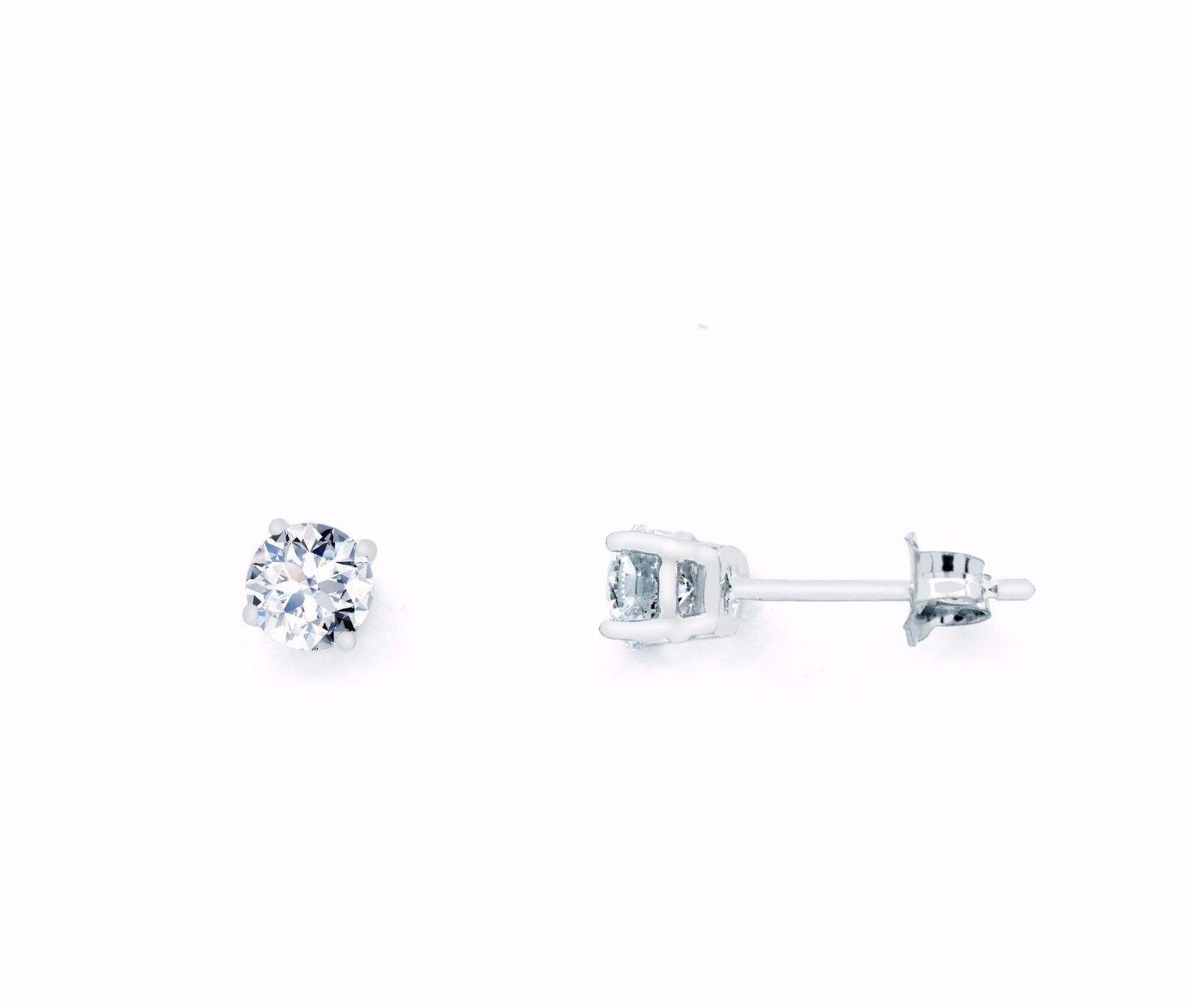 0.25 Karat Total Diamond Stud Earrings White gold