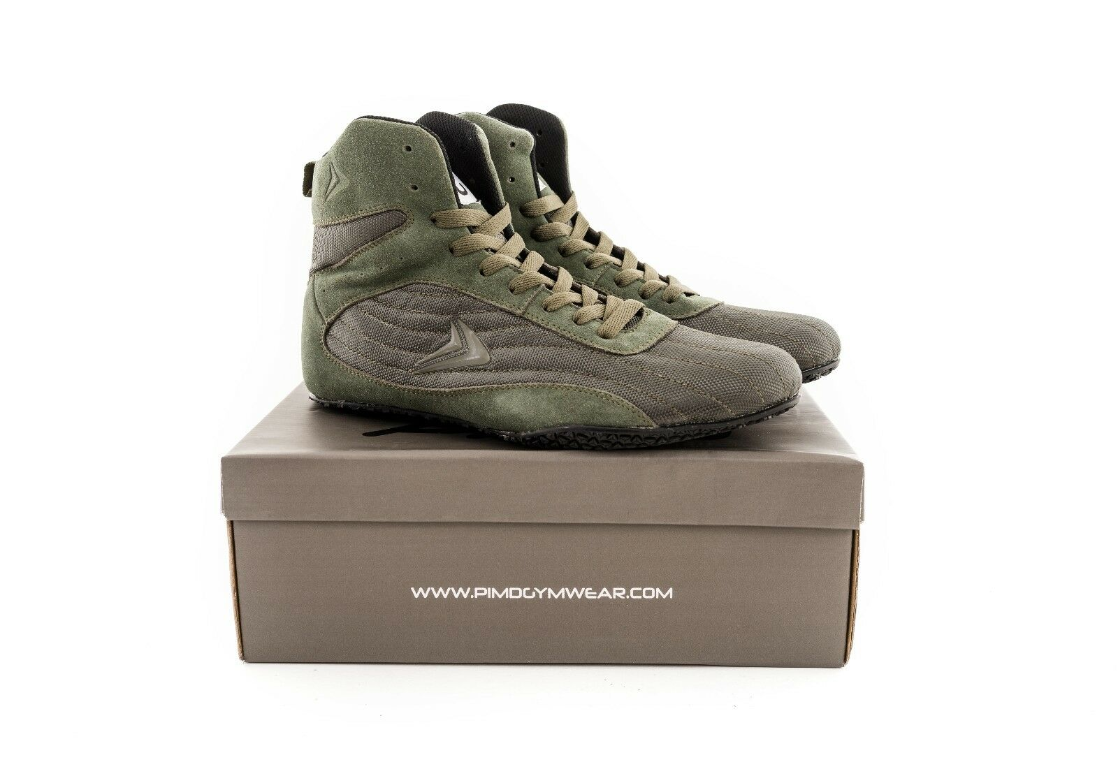 PIMD Khaki Green X-Core V2 Gym Boots - Hightop Weight Lifting Fitness Workout