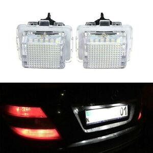2x-Car-License-Plate-Lights-Error-Free-LED-for-Mercedes-W204-W212-C207-C216-W221