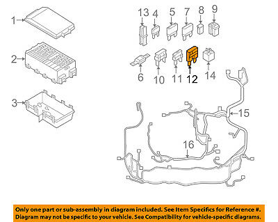 ford oem 08-11 focus 2 0l-l4 fuse relay-diode ys4z10c912aa
