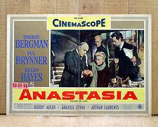 ANASTASIA fotobusta poster Hayes Brynner Ingrid Bergman Oscar Y5