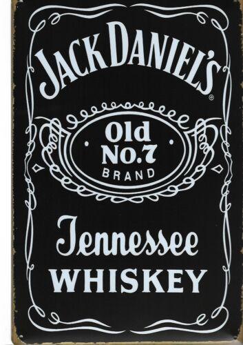 Nouveau style Vintage Rétro en Métal Mural Signe Jack Daniels emblématique