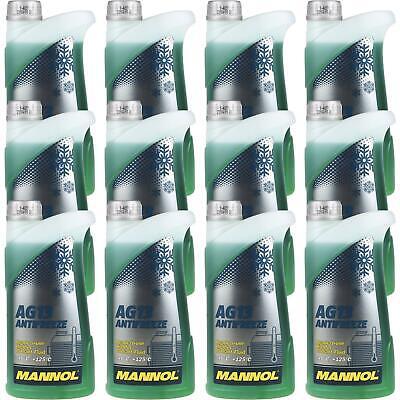 12x1 Litri Mannol Radiatore Antigelo Tipo G13 Antifreeze Refrigerante -40 ° C Verde-utz Typ G13 Antifreeze Kühlmittel -40°c Grün It-it