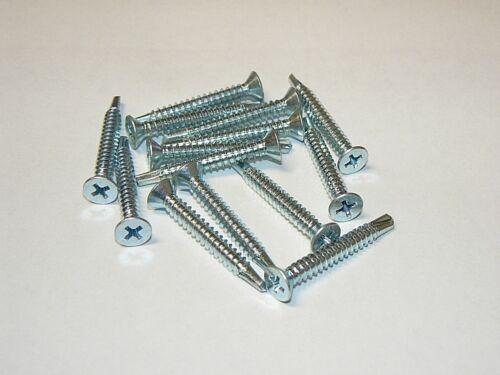 """#3 Point #10-16 x 1 1//2/"""" Flat Head Phillips Self-Drilling Tek Screws 600 Pcs."""