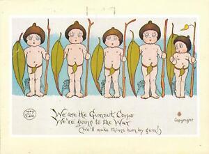1990 MAY GIBBS GUMNUT BABIES ARMY CORPS POSTCARD Heartbreak High TV, Paddington
