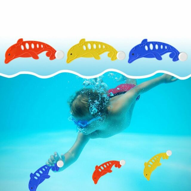 3x Plastic Pool Diving Underwater Dolphin Toys Party Game Outdoor Sports Swim r