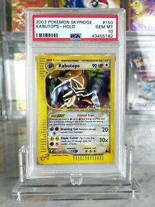 Crystal-Kabutops-Holo-Pokemon-Card-e-Skyridge-150-144-BGS-PSA-Gem-Mint-10