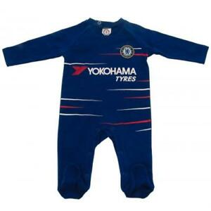 the best attitude 60f20 0ec9f Details about Chelsea Fc Baby Sleepsuit Babygrow Official Home Football Kit  18/19 Season
