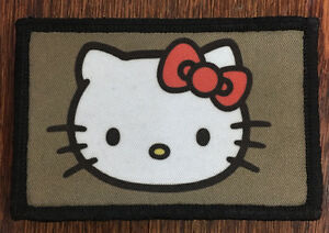 Hello kitty ak-47 pvc morale patch neo tactical gear.