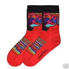 K.Bell Laurel Burch Black Red Wind Spirit Horse Crew Womans Ladies Socks New
