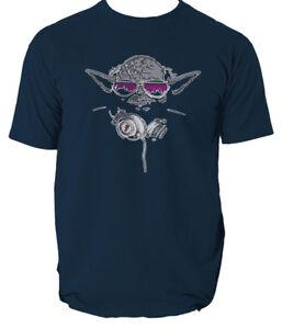 80c72c4a DJ Yoda Mens Funny T-Shirt Star Wars Ewok Jedi Skywalker Music Hip ...