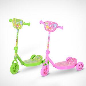 kinder scooter tretroller roller cityroller 3 r der gr n. Black Bedroom Furniture Sets. Home Design Ideas
