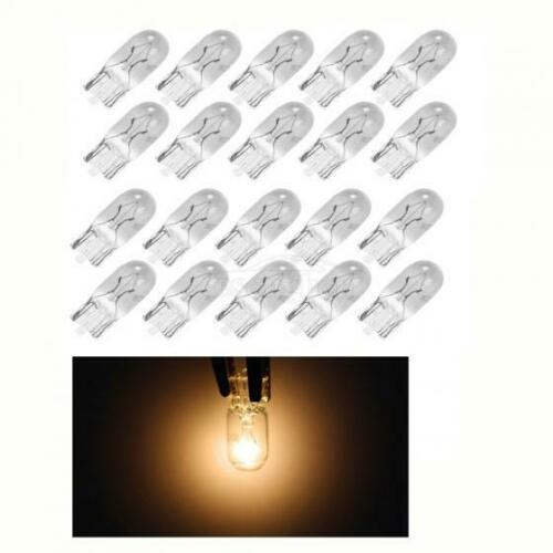 20xW5W T10 194 halogen Clear bulbs For Side//Fender Marker clearance Light Yellow