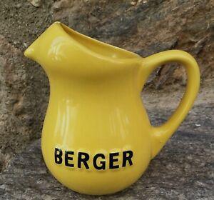 Antico-Brocca-Bistrot-Pubblicita-Vintage-Berger-in-Varie-Giallo-Piccolo-Modello