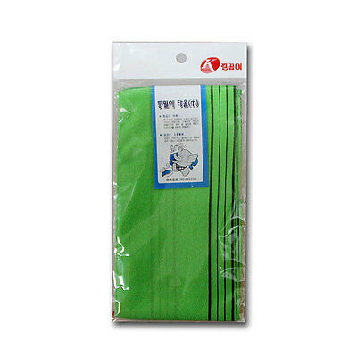 Korea Italy Exfoliating Body-Scrub Towel Long Green Washcloths 1pc 2pcs