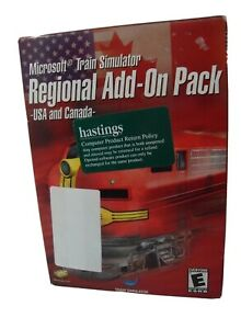 Video-Game-PC-Microsoft-Train-Simulator-Regional-Add-On-Pack-USA-amp-Canada-NEW