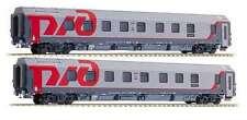 LS Models 98024 Set 2 RZD Schlafwagen WLABmz Moscow-Milano grau/rot Ep6 NEU+OVP