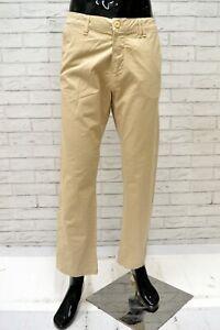 Pantalone-POP84-Uomo-Taglia-Size-52-Jeans-Pants-Man-Cotone-Gamba-Dritta-Beige