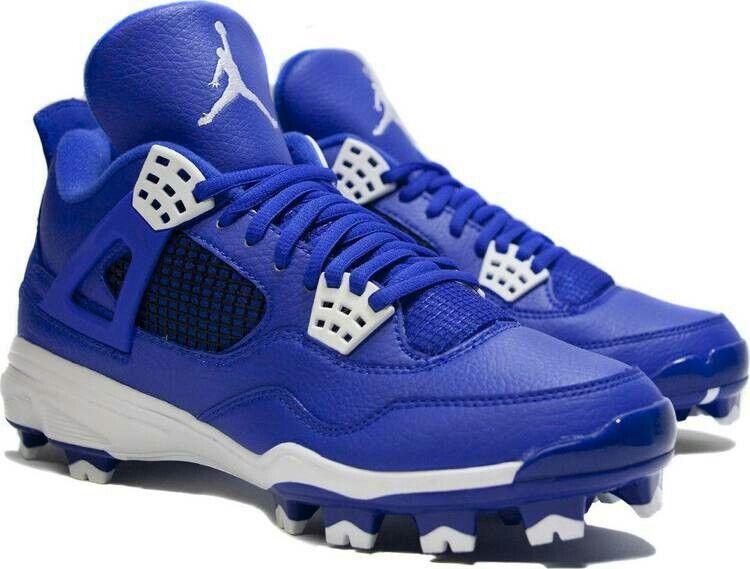 Nike 4 Air Jordan Retro IV 4 Nike MCS Blue Baseball Football Cleats 807709-401 Size 16 238072