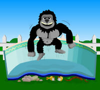 18'x40' Oval Gorilla Floor Pad For Above Ground Swimming Pools