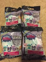 4 Unopened Littlest Pet Shop Micro Lite Mashem Fashem Blind Bag
