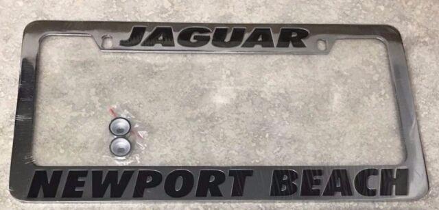 jaguar newport beach stainless steel metal chrome license plate