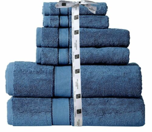 Hotel Collection 100/% Cotton Bath Towels Soft 700 GSM 6 Pack Set Blue SPA