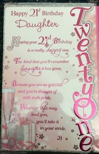 Image Is Loading Happy 21st Birthday Daughter Greetings Card