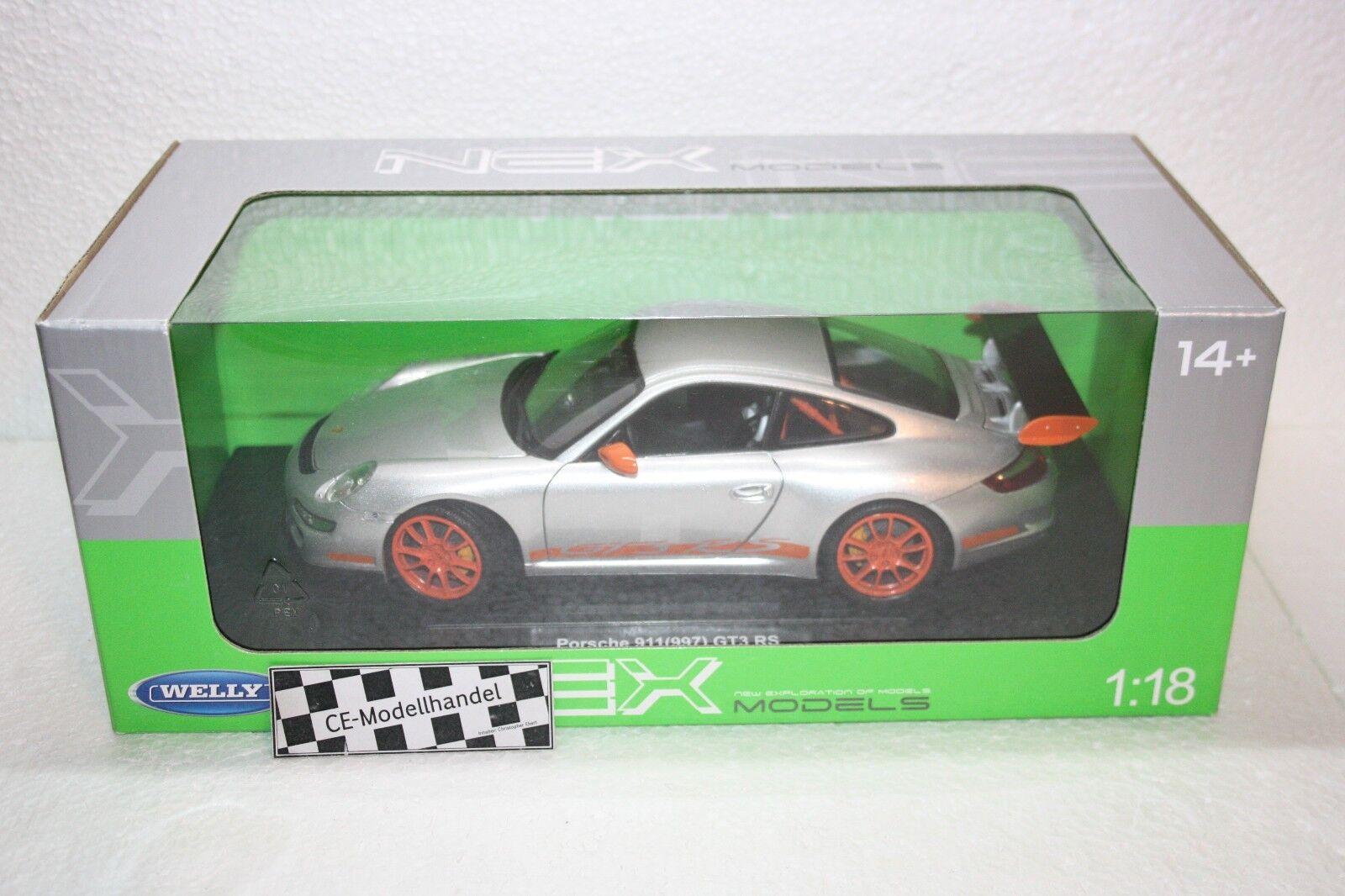 Porsche 911 (997) gt3 rs  2007  NOUVEAU NOUVEAU NOUVEAU  Welly  1 18 72329e