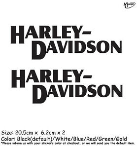 2 Pcs Harley Davidson Motorcycle Reflective Stickers  Decals  Best Gifts Block.