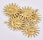 10X Collar Colgante de cobre de Sol Sonrisa Cara Aretes Bisutería Accesorios 25*22mm