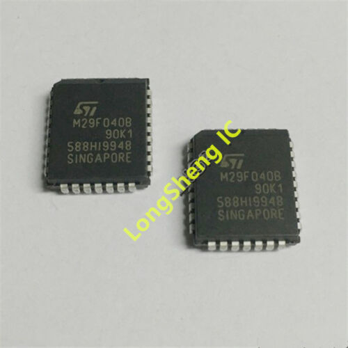 5PCS M29F040B M29F040B-90K1 Plastic Leaded Chip Carrier 32 Nouveau