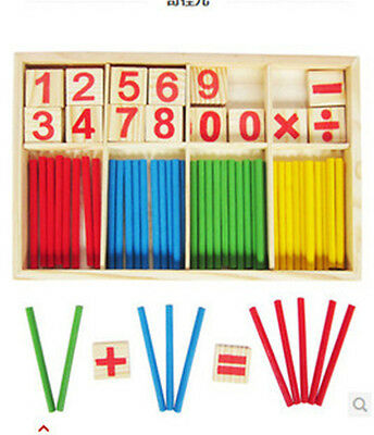 Preschool Wooden Mathematical sticks Educational Game Toy fr Kids Early Learning