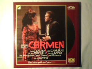 JAMES-LEVINE-Bizet-Carmen-2-laserdisc-laser-disc-DGG-laserdisc-laser-disc
