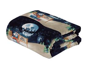 Ultra-Cozy-amp-Soft-Christmas-Holiday-Night-Snowman-Plush-Warm-Throw-Blanket-50x60