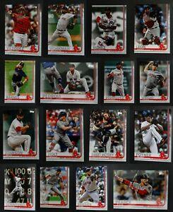 2019-Topps-Series-2-Boston-Red-Sox-Team-Set-Of-16-Baseball-Cards