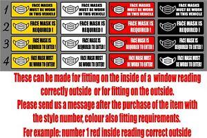4 x Driver Operated Door Stickers Taxi Car Minibus Coach Van Decals Graphics 03