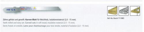 pour Coupes courbes 13 TPI 5 Scie sauteuse feuilles 76//50mm CV Pour Bosch