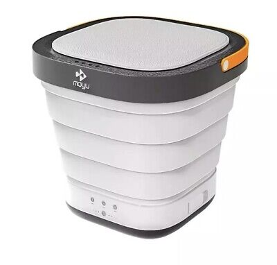 Moyu Foldable Bucket Washing Machine with Small Drainage Pipe for Daily Laundry