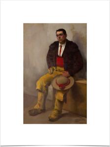 DIEGO-RIVERA-EL-PICADOR-BIG-BORDERS-LIMITED-EDITION-ART-PRINT-18X24-brown-yellow