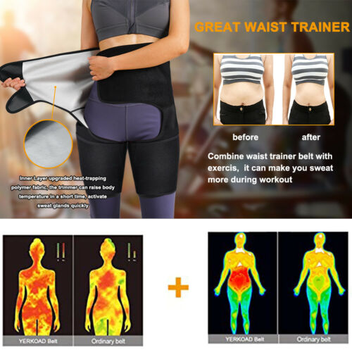 3 In 1 Sauna Sweat Waist Trimmer Thigh for Women Trainer Polymer Body Shaper HOT