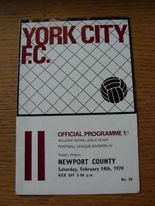14021970 York City v Newport County    Any faults with this item will have be - Birmingham, United Kingdom - Returns accepted within 30 days after the item is delivered, if goods not as described. Buyer assumes responibilty for return proof of postage and costs. Most purchases from business sellers are protected by the Consumer Contr - Birmingham, United Kingdom