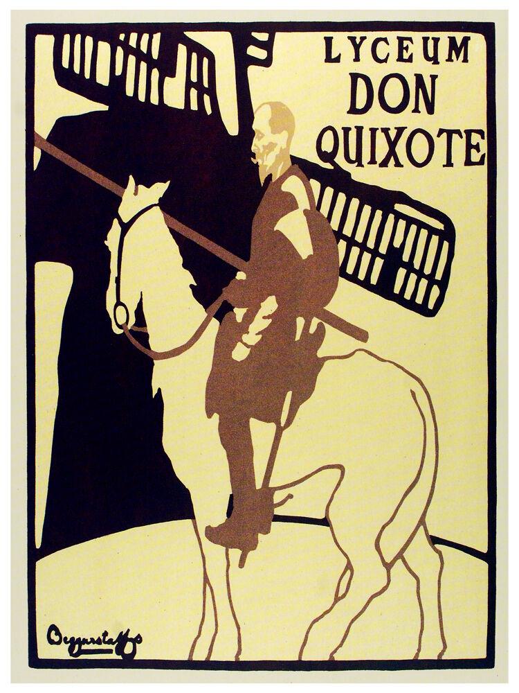 Lyceum Don Quixote vintage POSTER.Graphic Design. Wall  Art Decoration.3202