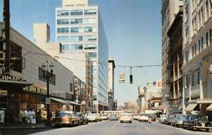 PORTLAND-OR-Looking-North-on-6th-Avenue-Street-Scene-ca-1950s-Vintage-Postcard